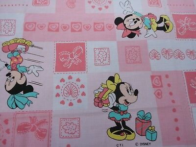Disney Mickey Minnie Drap Plat Vintage Flat Sheet