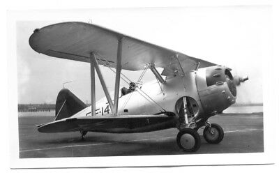 Grumman F3F Fighter Plane Navy Original Vintage Photo