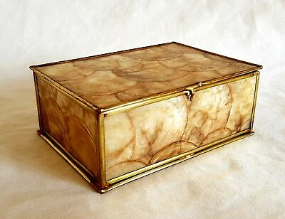 Antique mother of pearl box. 1920s, Vintage, Retro.
