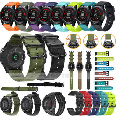 Armband für Garmin Fenix 3/Fenix 3 HR/Fenix 5 5X Plus Smart Watch Nylon/Silicone