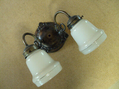 two light wall mount with two matching shades