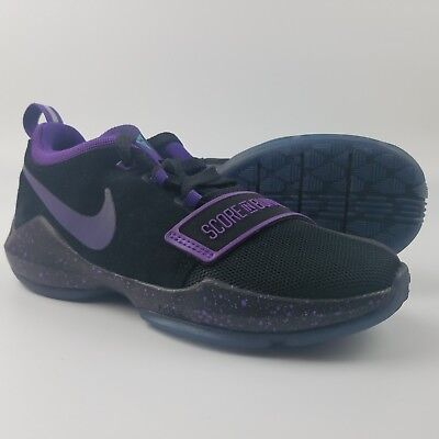 36e4279d8d5b Nike PG 1 Basketball Shoes Score In Bunches Black Purple Paul George  881938-097