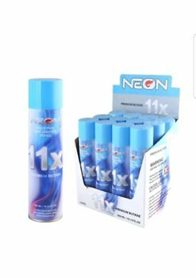 Neon 11X (6 Cans) Gas Refill Butane Universal Fluid Lighter Fuel Refined 300Ml