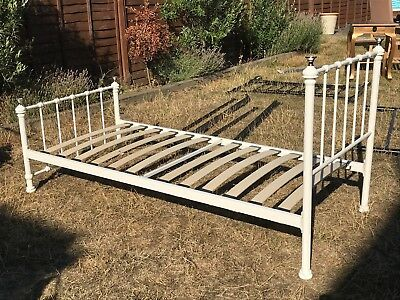 Victorian style single bed in cream