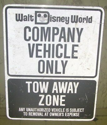 Walt Disney World Compony Vehicle Only Parking sign with Mickey Mouse Ears prop