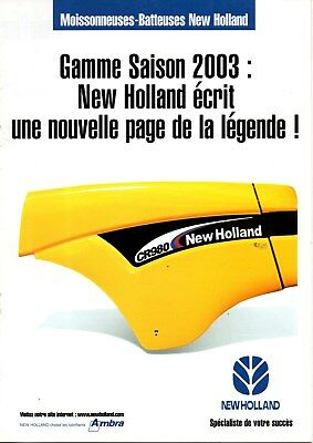 F-Brochure Gamme Moissonneuses New Holland 2003
