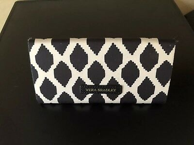 Vera Bradley Black And White Patterned Sunglass Case With Magnetic Closing