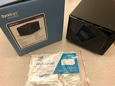 Synology DS412+ Excellent Condition, Box, Power Supply, and Mounting Hardware
