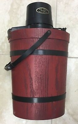 Vintage Dolly Madison Wood Large HOME Ice Cream Maker USA RARE RED PATRIOT