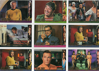 Star Trek TOS Season 2 - Lot Of 9 Profiles chase cards EX Skybox 1998