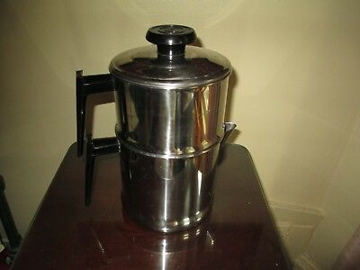 Nice Vintage Lifetime Drip O Later 18-8 Stainless Steel Stove Top Coffee Pot