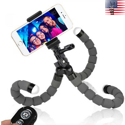 Phone Tripod Mount Flexible Camera Stand Holder Gopro Wireless Bluetooth Remote