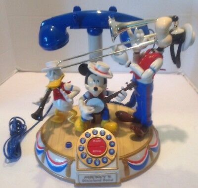 Vtg Disney Mickey Mouse Musical Animated Dixieland Band Telephone