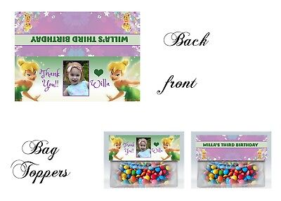 Tinkerbell Bag Toppers, Tinkerbell, princess, party,  Birthday, Gift Tags