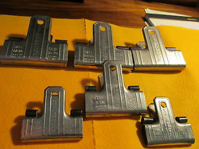 6 Vintage -  Esterbrook  Bearing Art Deco Styled  Clips