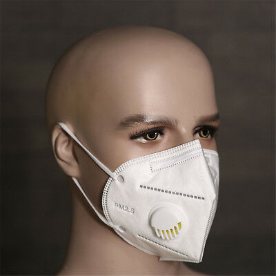 5PCS Pack Non Woven Earloop Anti-Dust Anti-fog Face Mask With Breathing Window
