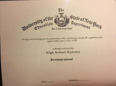 High School Diploma. Comes Blank. Fill In Own Info. Plus Free Blank Report Card