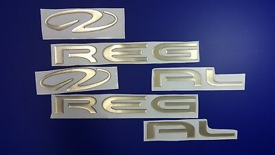 "Regal Boats Emblem 28"" gold + FREE FAST delivery DHL express- stickers"