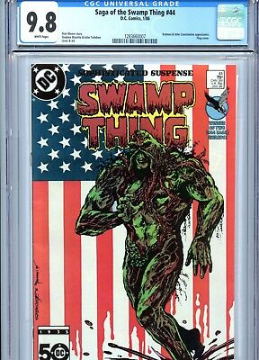 Saga of the Swamp Thing #44 CGC 9.8 Flag Cover Alan Moore DC Comics 1986