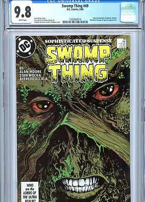 Swamp Thing #49 CGC 9.8 1st Justice League Dark Alan Moore DC Comics 1986
