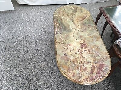 """Onyx And Metal Table Measures 45"""" Long X 20"""" Wide X 18"""" High Approximately"""