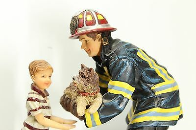 Vanmark Firefighters RED HATS OF COURAGE Ruff Rescue Handcrafted Statue Firemen