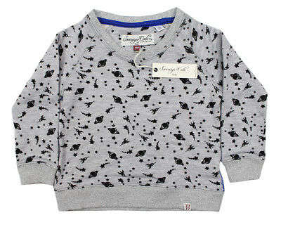 New Infant Boys Sovereign Code Long Sleeve Outer Space Grey Shirt Pullover 24M