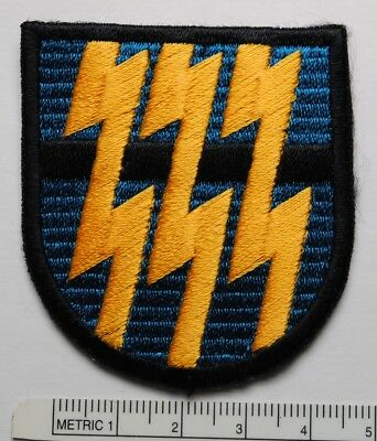BERET FLASH, 12th SPECIAL FORCES GROUP, CUT EDGE, LARGER THAN NORMAL VARIATION