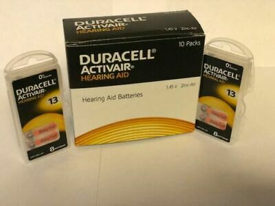 Duracell Activair Hearing Aid Batteries Size 13 Exp 09 2022 -8 to 160 batteries