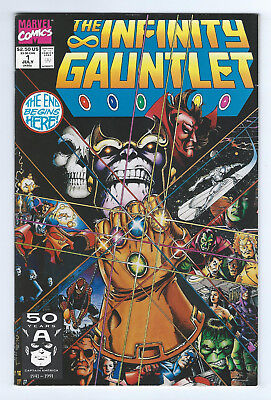 the Infinity Guantlet   #1   Near Mint - Mint    Cond.     (9.8)    1991    Key!