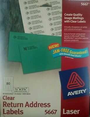 avery matte frosted clear return address labels for laser printers