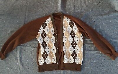 Men's 40s 50s 60s Vintage knitted Cardigan