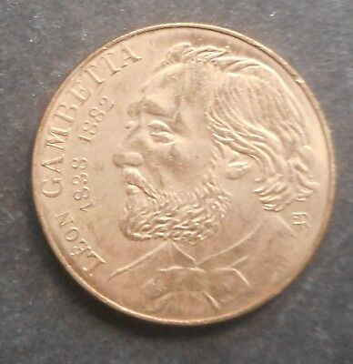 France 1982 Gambetta  10  Franc coin UNC   NICE coin some white tone