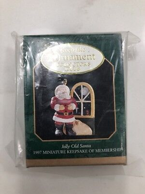 Hallmark Keepsake Miniature Jolly Old Santa Christmas Ornament 1997 EUC