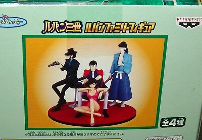 NEW Lupin The 3rd FAMILY FIGURE set COMPLETE 4 pc. set    USA SELLER