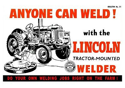 Fordson Major Tractor Attachment - Lincoln Welder Poster (A3)