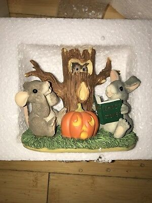 Charming Tails GHOST STORIES Halloween Mouse & Bunny Figurine