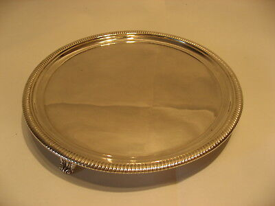 A Good George Iii Solid Silver Salver Tray Made In London 1804 /4043