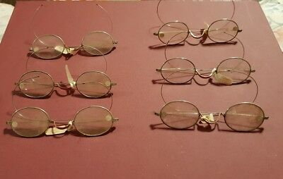 LOT OF 6 ANTIQUE, RARE, VINTAGE, COLLECTIBLE NOS ALUMNO SPECTACLES w/ Tags!!!