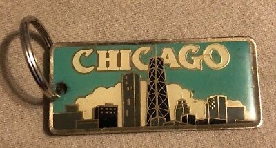 Vintage Chicago Skyline Keychain by Gift Creations Sears Willis Tower Used IL