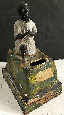 c1870s German Mechanical Black Nodder Bank Donation Box