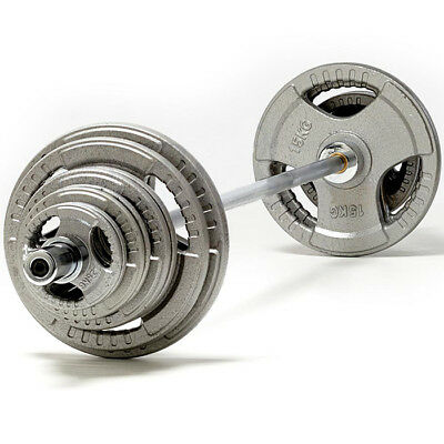 Tnp Accessories Tri Hierro Fundido Barra Olímpica Peso Disco Set-From 85kg-185kg