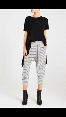 Sass And Bide The Clash Relaxed Print Trousers Size 38 Black & White