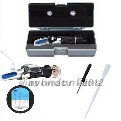 Glycol Refractometer Auto Car Fluids Antifreeze Battery Acid Engine Tester