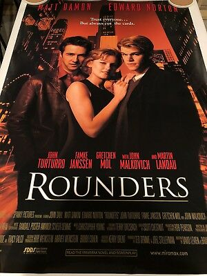 ROUNDERS Original Movie Poster 27X40 DS/Rolled - 1998 - MATT DAMON - ED NORTON