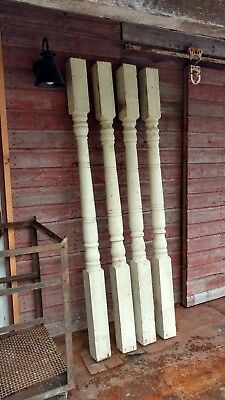 "4 Antique Porch Posts Columns 80"" Architectural Salvage Restoration"