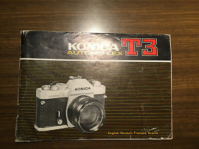 KONICA T3 Autoreflex original Owner's Manual