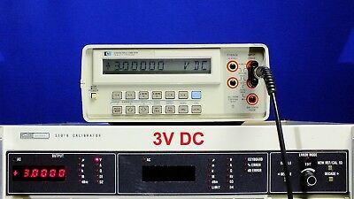 HP 3468A benchtop Digital Multimeter DMM TESTED for Accuracy