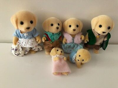 Sylvanian Families Golden Labrador Dog Barker Family with babies