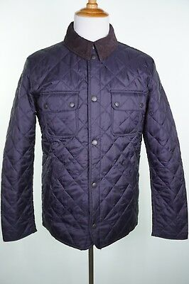 New Barbour Tinford Quilted Jacket Size M Medium Navy Blue
